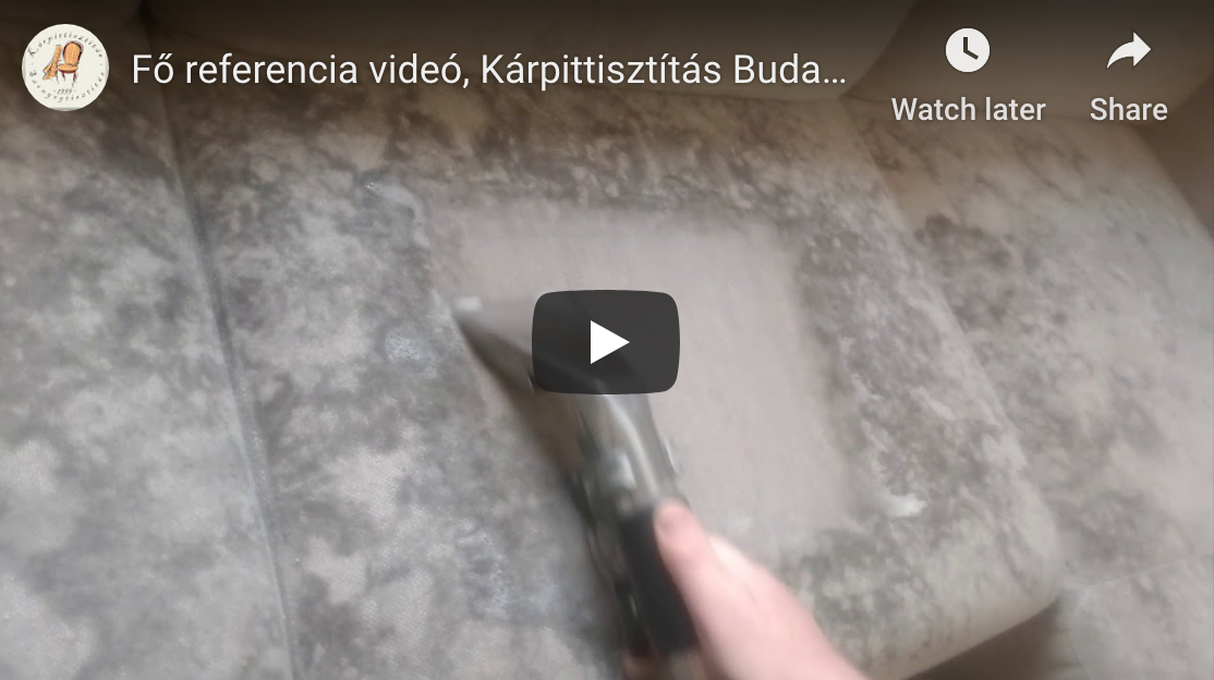 kárpittisztítás referencia videó